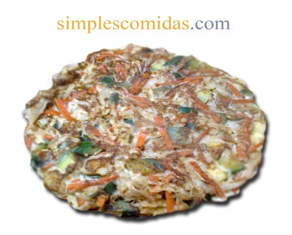 Tortilla de Repollo y Zanahoria