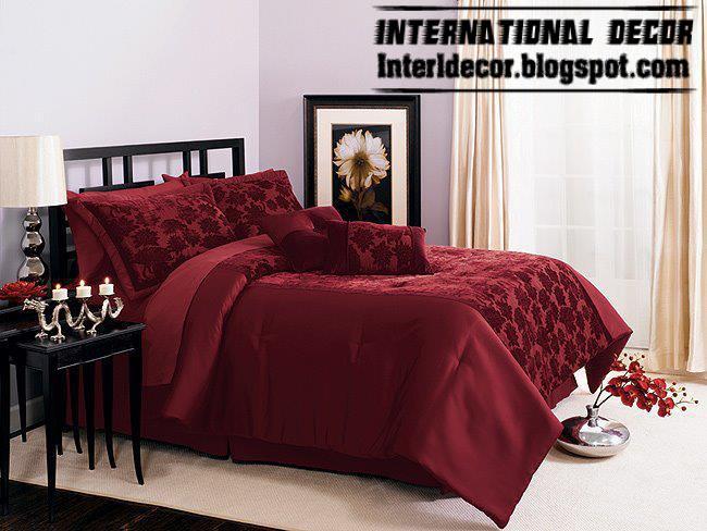 Modern red duvet cover sets, dark red duvet covers