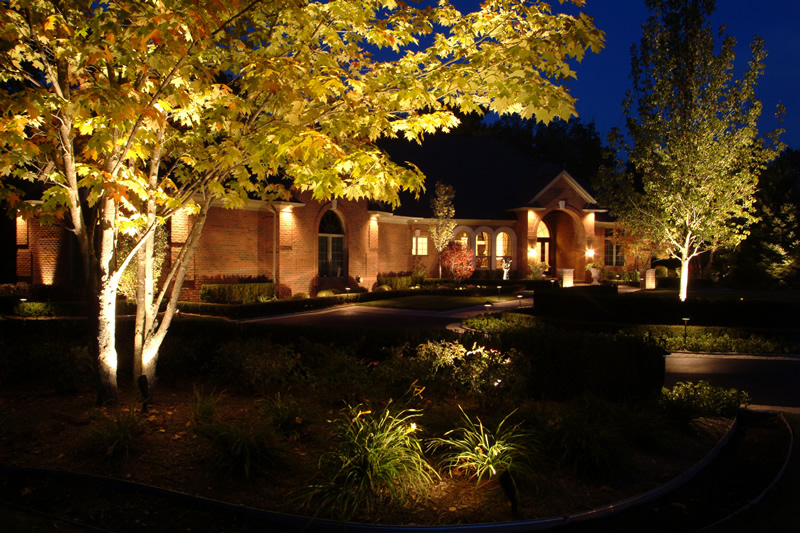 Landscape Lighting Cedar Rapids Iowa / Outdoor Lighting / Night