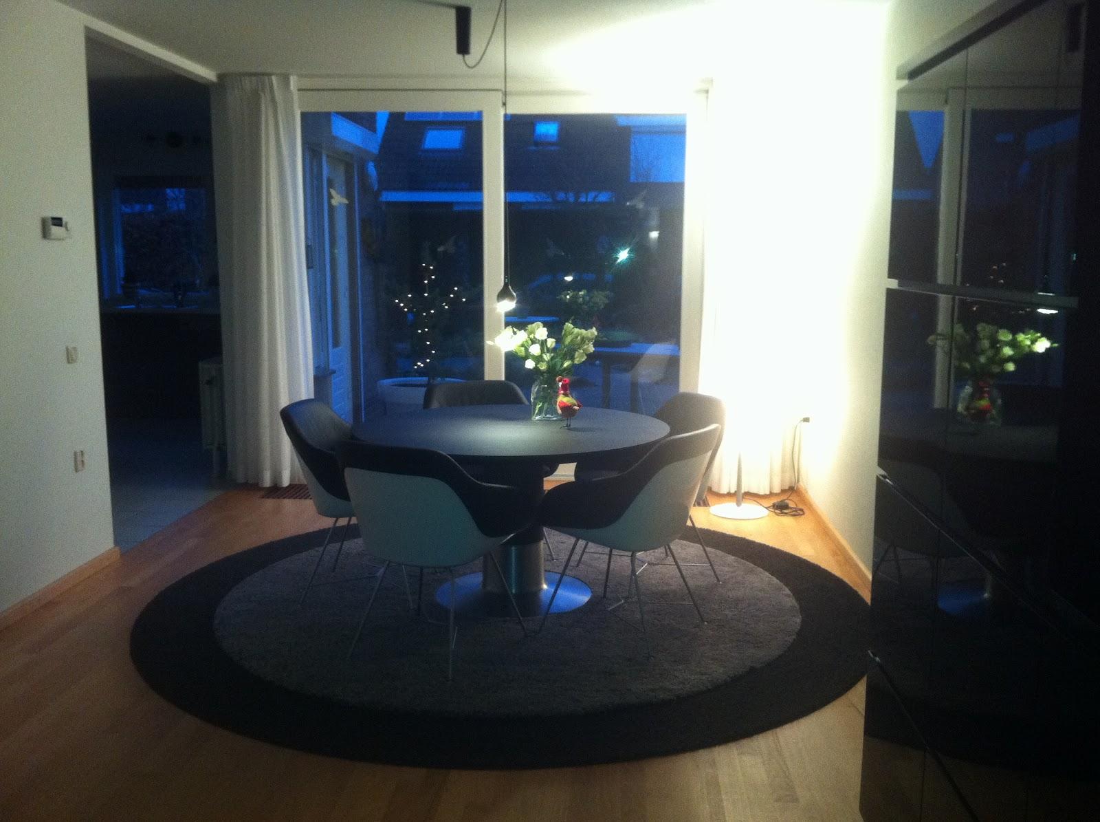 Walter knoll turtle stoelen en arco balance tafel ploemen interieur