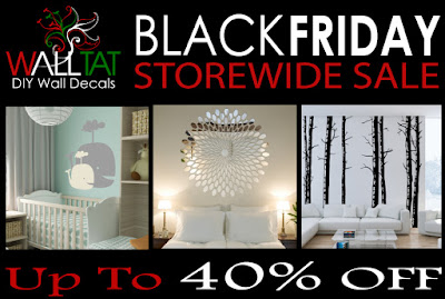 Save up to 40% Storewide on all WALLTAT Wall Decal Designs