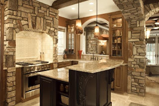 cucina con piano di lavoro in granito