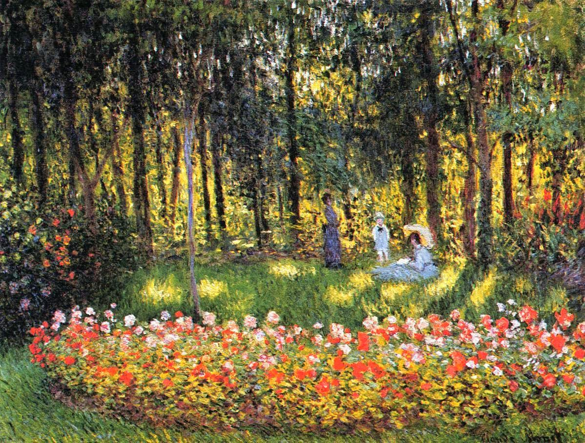 Art artists claude monet part 8 1875 1876 for Jardines monet