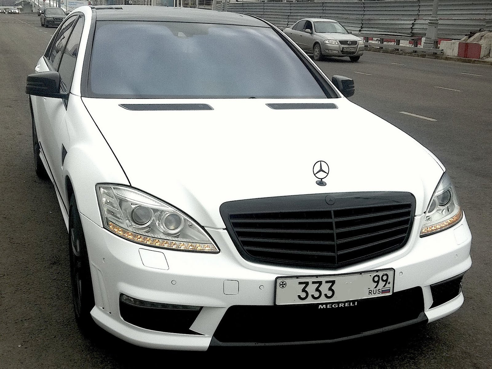 Mercedes benz s65 amg w221 wald white matte benztuning for Matte mercedes benz