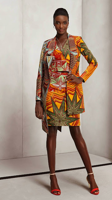 2015 Vlisco African print womens modern style.