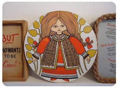 Folk art wares at Fabulous Flora