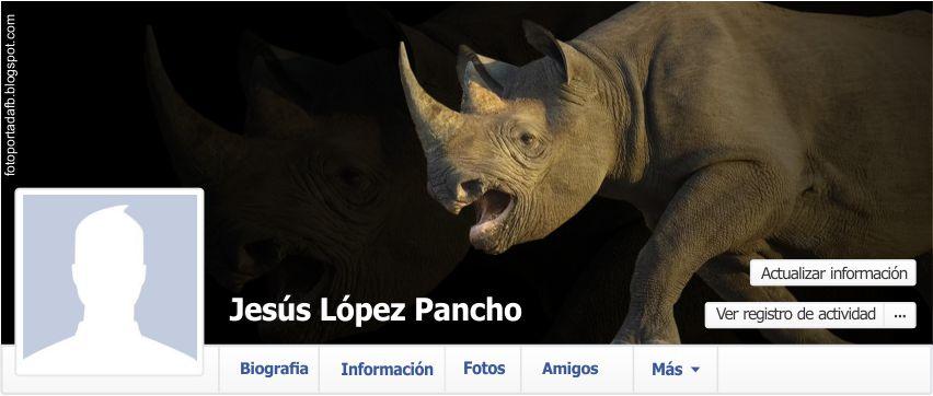 Portada para facebook como tema un rinoceronte