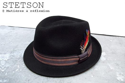 Chapeau Stetson noir petit bord