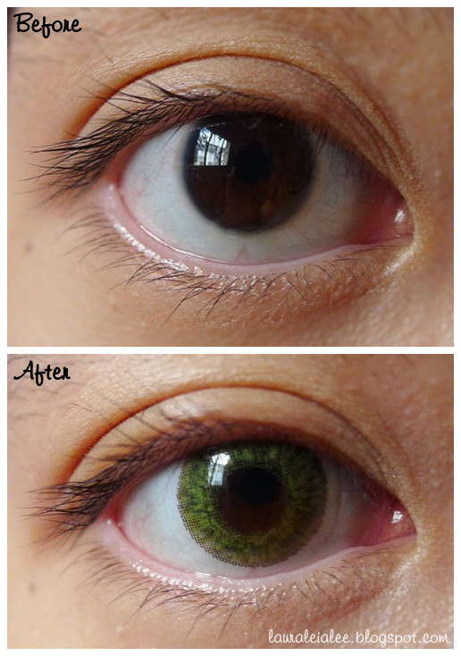 review freshlook colorblends in gemstone green and