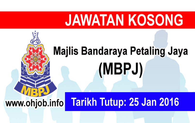 Jawatan Kerja Kosong Majlis Bandaraya Petaling Jaya (MBPJ) logo www.ohjob.info januari 2016