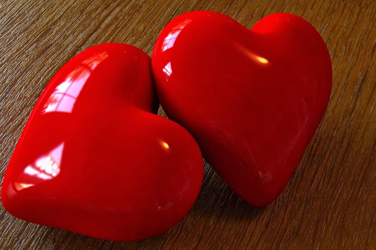 Imagenes de amor san valentin corazones brillosos y - Imagenes de corazones navidenos ...