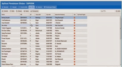 Video Panduan Pengisian Data Rinci PTK Pada DAPODIKDAS 2013