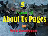 Five Types of about us pages for Web Developers