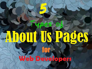 5 types of About Us pages for Web Developers Front