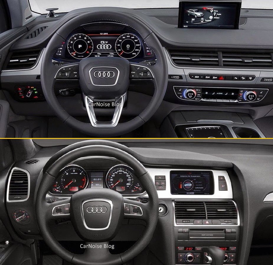 comparison audi q7 new vs old how different carnoise. Black Bedroom Furniture Sets. Home Design Ideas