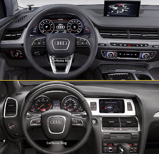 Interior Dashboard: New 2015-2016 Audi Q7 versus Old Audi Q7