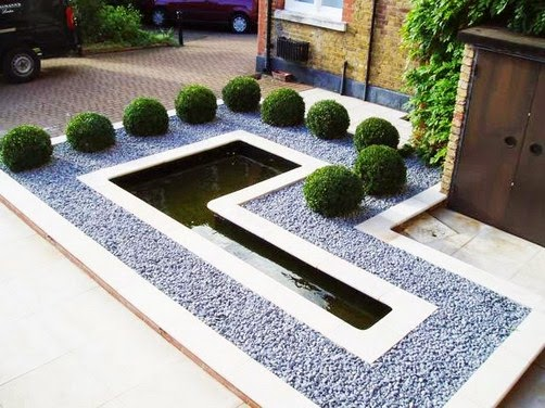Ide desain taman minimalis