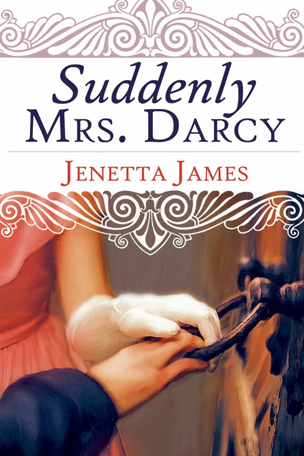 Book cover: Suddenly Mrs. Darcy by Jenetta James