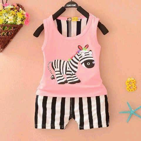 Setelan Anak Pink Horse - Baju Apinigo - Harga Saudara