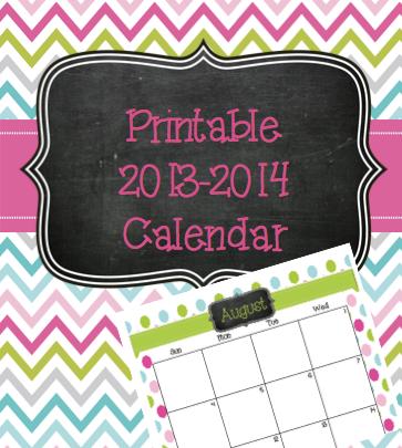 Cute 2013 2014 Printable Calendar/page/2 | New Calendar Template Site