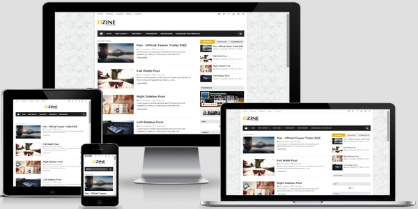 Dzine Responsive Blogger Template Free Download