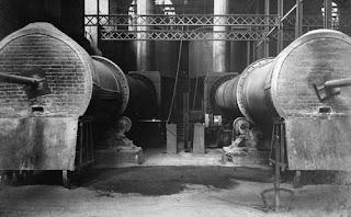 HORNO ROTATORIO fabrica asland clot del moro cemento tren guardiola castellar n'hug berga