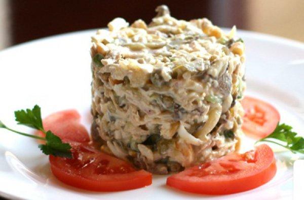Вкусные салаты с шампиньонами и ветчиной рецепты простые и вкусные