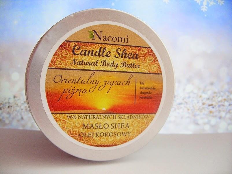 Recenzja: Świeczka z masłem shea o zapachu piżma, Nacomi