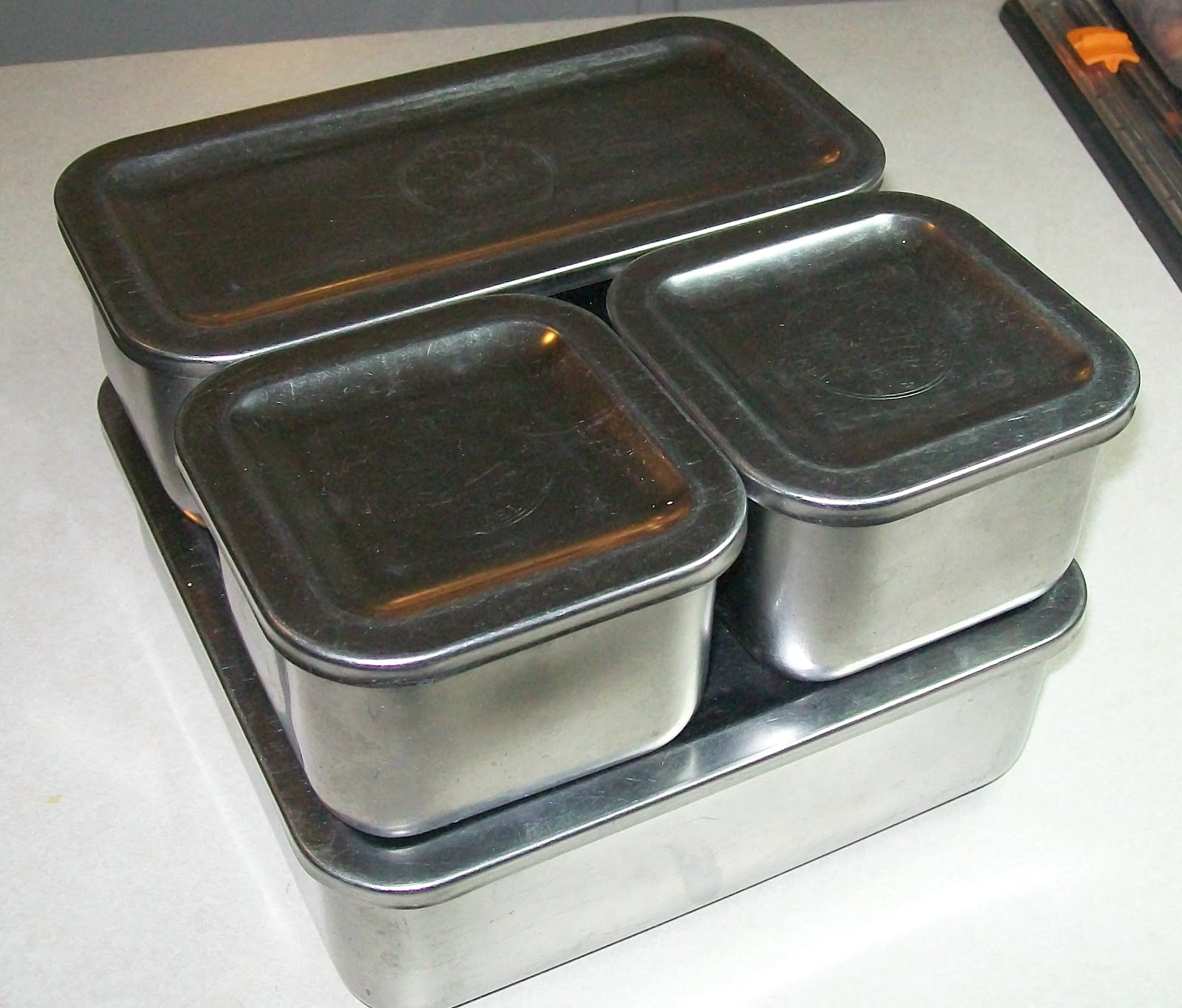 It Is A Vintage 4 Piece Set Of Revere Ware Refrigerator Storage Dishes,  Stainless Steel. I Paid $2.00 For The Set. It Was The Last Day Of An Estate  Sale, ...