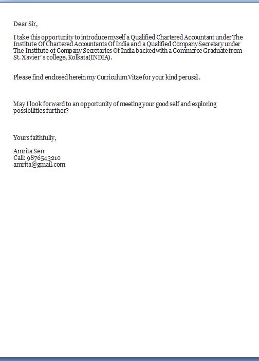 excellent cover letter finance