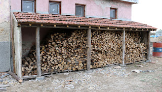 Our woodstore, nicely stocked