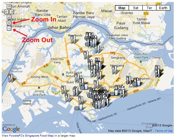 FoodieFC Singapore Food Map