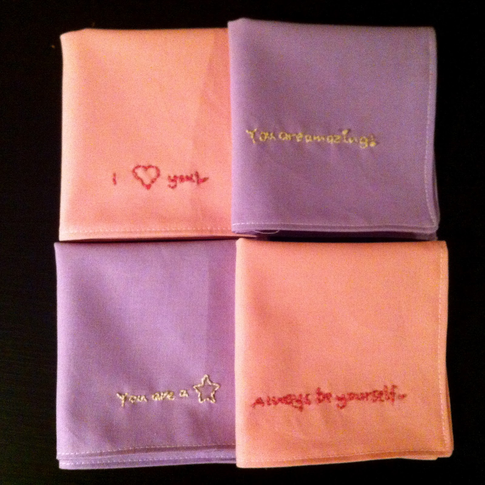 In stitches embroidered lunch box napkin tutorial