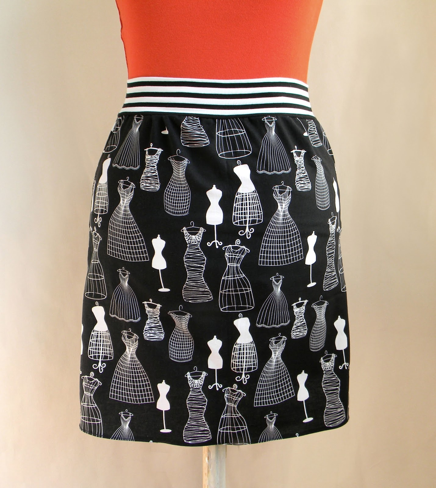 Unique Handmade Fashion Skirt Original Cotton Print
