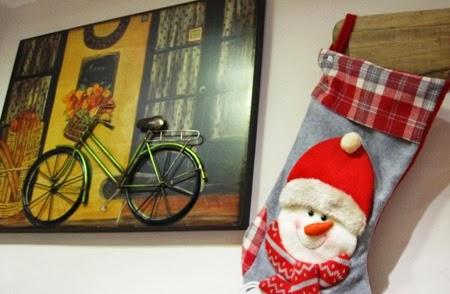 Cuadro con bicicleta en relieve