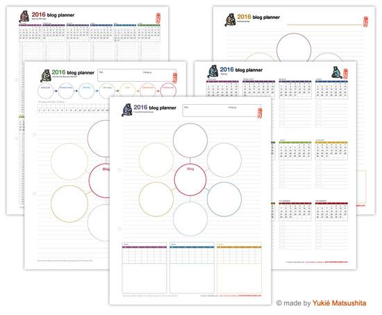 Blog Planner 2016 by Yukié Matsushita