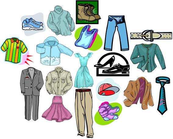 Dibujos de prendas de vestir en ingles - Imagui