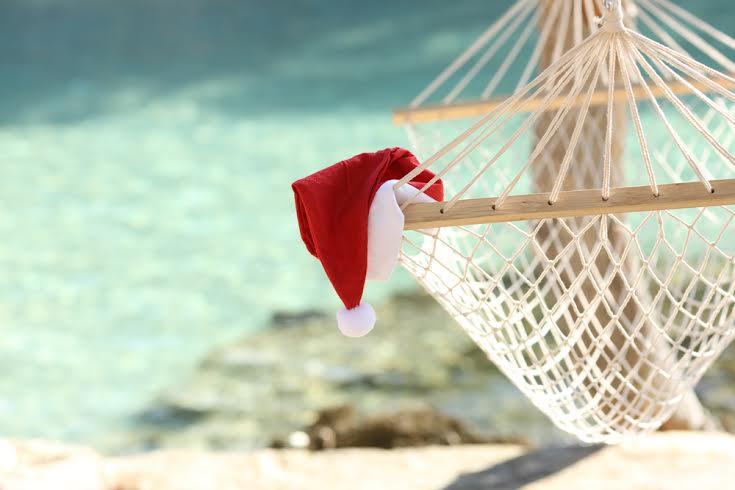 santa hat on hammock