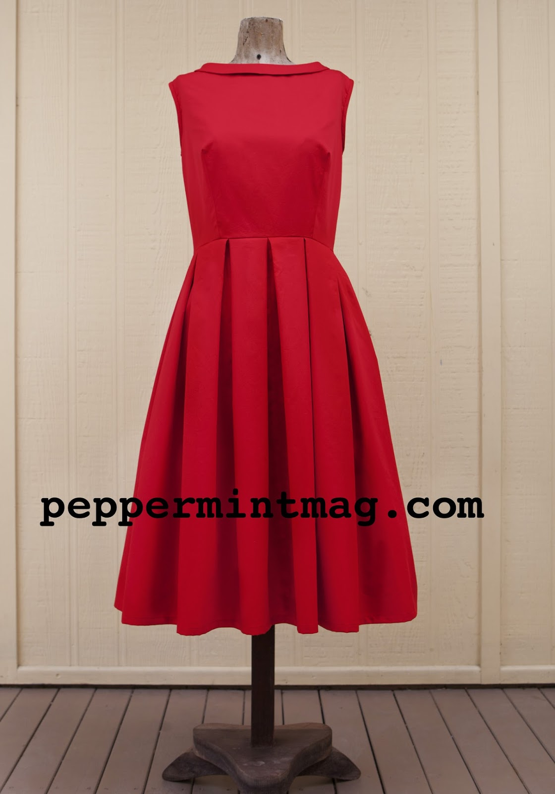 Free 1950's Sewing Pattern - Pleated Prom Dress