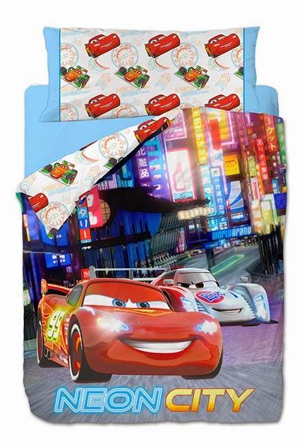 Cars Neon Gamanatura. Funda nordica y Juego de sabanas Disney