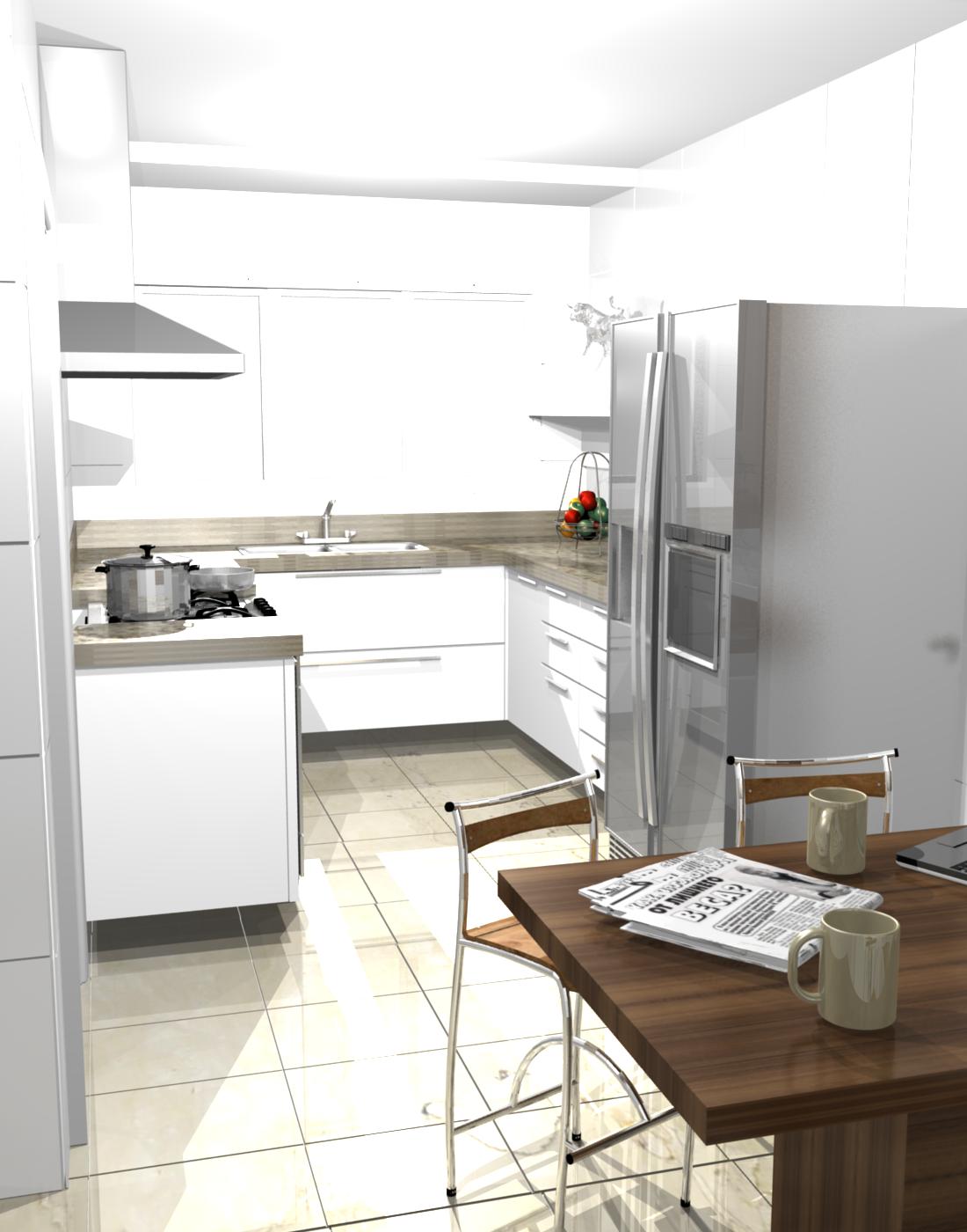 balcão para cozinha americana pequena #BB2110 1100 1400