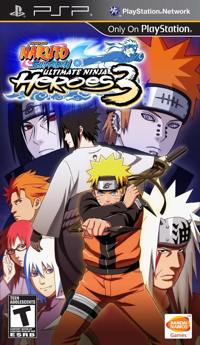 Psp Naruto Shippuden Ultimate Ninja Heroes 3 Hiero S