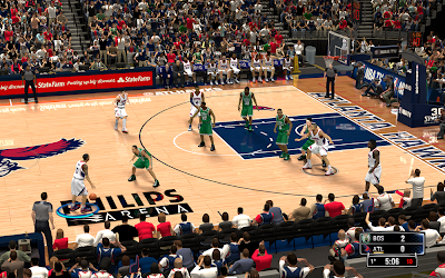 NBA 2K14 Atlanta Hawks HD Court Mod
