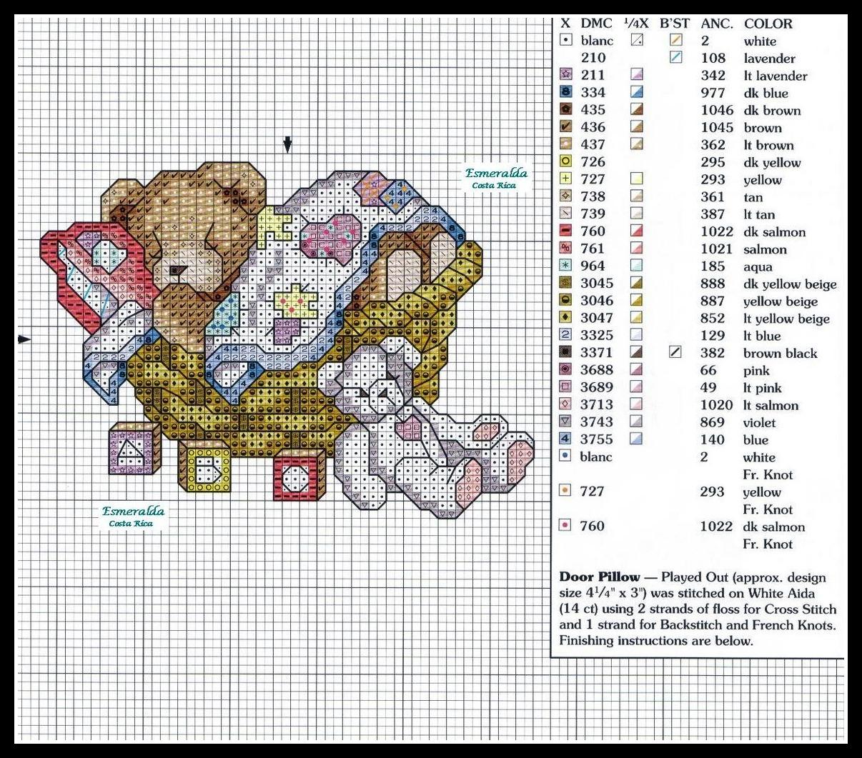 Schemi punto croce gratis per ricamo alfabeto disegni for Schemi punto croce bambini gratis