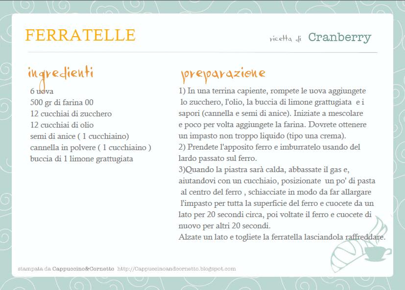 Fabuleux L'ULTIMA NOVITA': le schede delle ricette da stampare  GD33