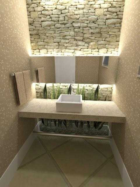 good outro detalhe a iluminao ela pode e deve fazer parte da decorao do lavabo procure por pontos focados saber como decorar o lavabo with lavabo moderno - Lavabos Modernos