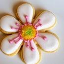 Biscuits décorés en forme de fleur