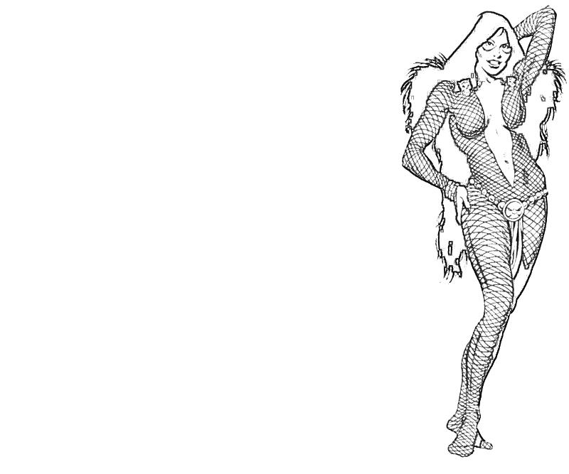 Printable Gamora Action Coloring Pages