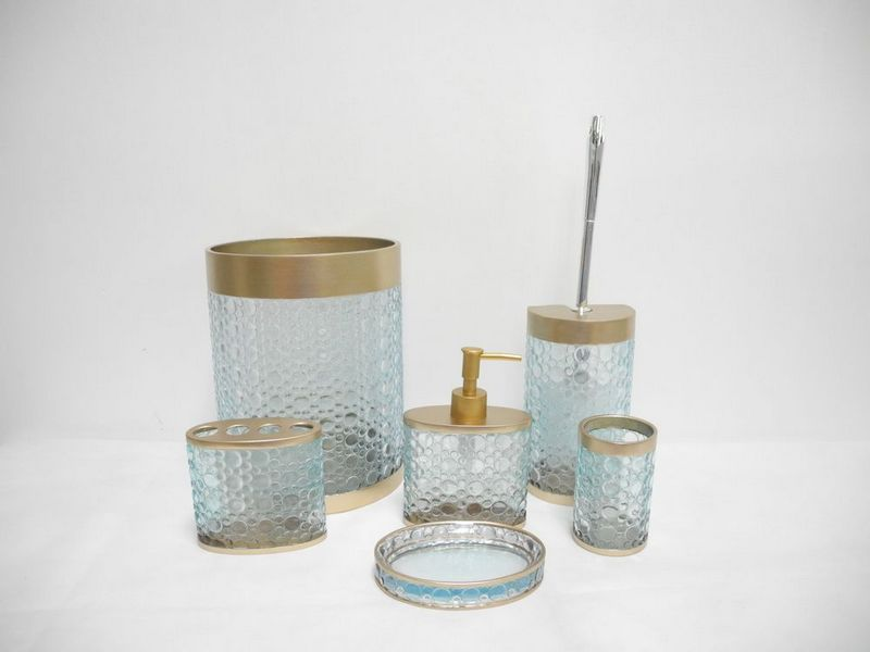 Vintage styled bathroom accessories sets yonehome for Cheap bathroom sets