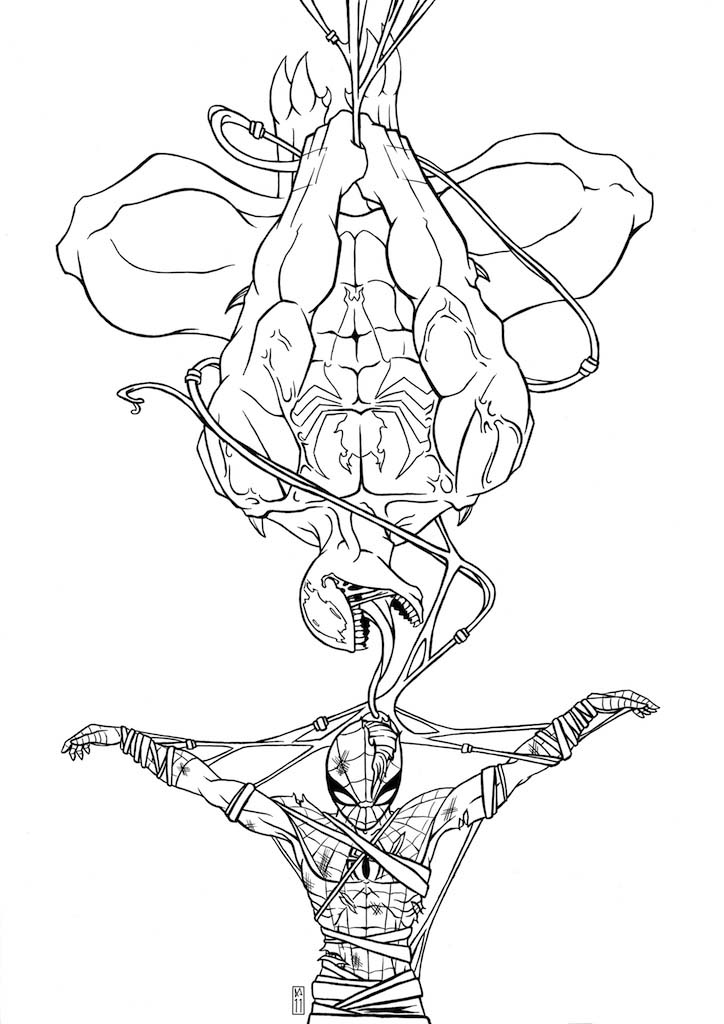 spiderman 3 venom coloring pages - photo#29